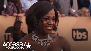 SAG Awards 2017: Viola Davis Reacts To Her Adorable Golden Globes Mini-Me   Access Hollywood