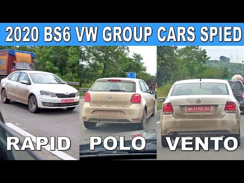 2020 Polo Vento And Rapid BS6 Spied