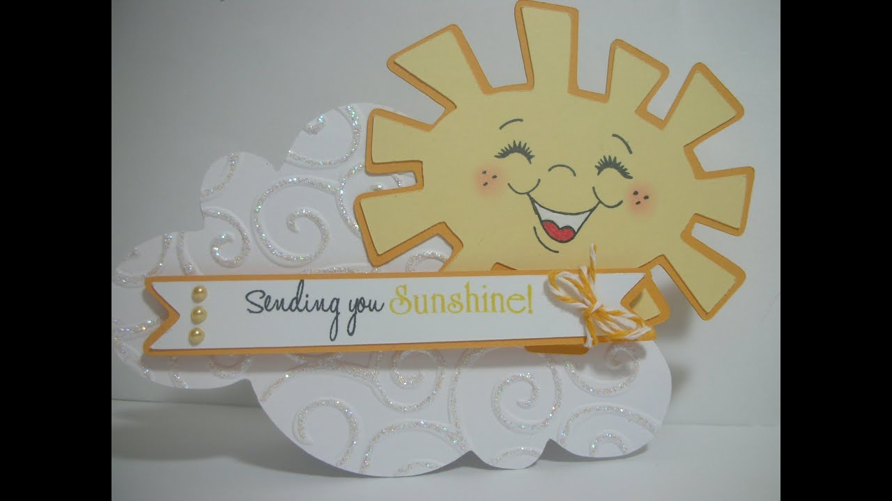 Cricut Card Making Ideas Youtube Part - 17: Sending You Sunshine....cloud Shaped Card - YouTube