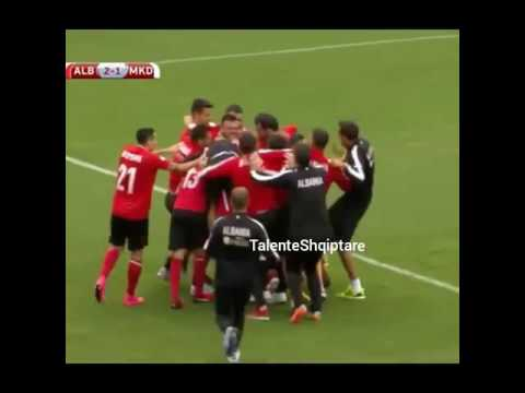 Shqiperi - maqedoni  2-1 Bekim Balaj Gol | DRITAN SHAKOHOXHA