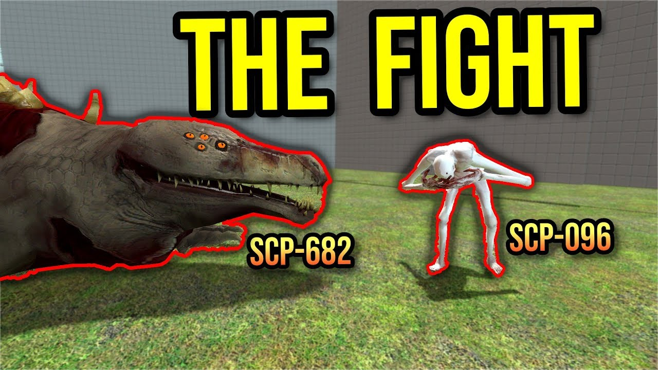 SCP-682 FIGHTS SCP-096 TO THE DEATH!! (gmod scp)