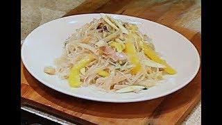 Салат из  морепродуктов, фунчезы и овощей