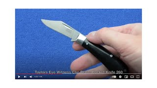 Clip Blade Pocket Knife Eye Witness Sheffield Penknife 260