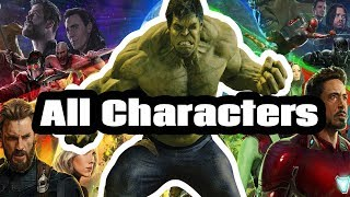 Avengers Infinity War All Characters - A Compilation