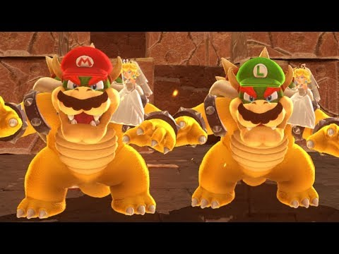 Super Mario Odyssey - All Bosses (2 Player)