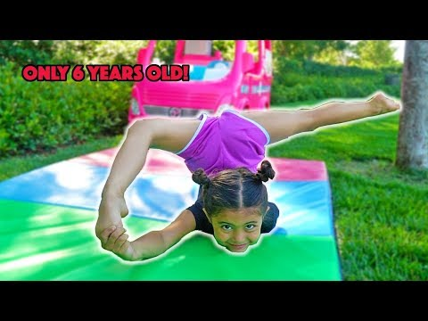 6 YEAR OLD AVA TEACHES NEW CRAZY FLEXIBLE GYMNASTIC MOVES!! (PART 4!)
