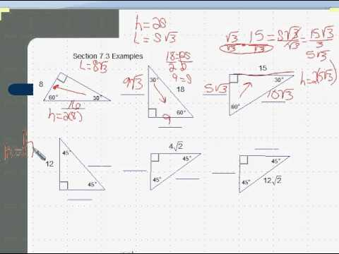 Special Right Triangles 30 60 90 Worksheet Answers Free ...