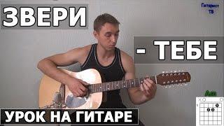 Звери - Тебе (Идеальных не бывает) Видео урок как играть на гитаре