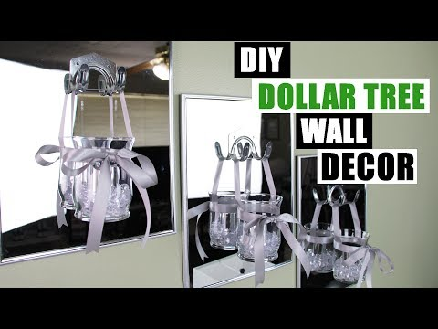 DIY DOLLAR TREE GLAM WALL DECOR Dollar Store DIY Glam Wall Decor Candle Holder DIY Glam Room Decor