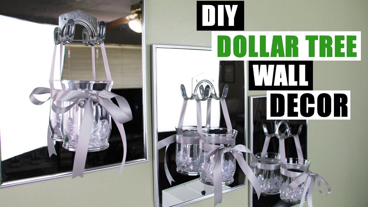Diy Dollar Tree Glam Wall Decor Candle Holder Room