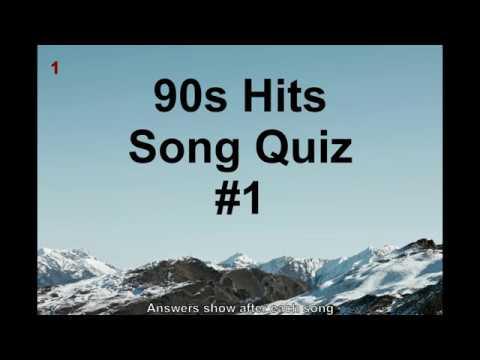 Name That Song! 90s Hits Music Quiz #1 (QNTSQ)