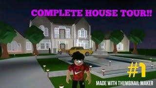 Complete House Tour (Roblox Bloxburg House Tours)