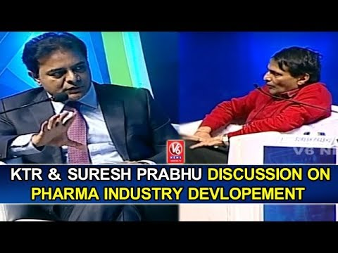 KTR And Suresh Prabhu Discussion On Pharma Industry Devlopement | Bio Asia 2018 | Full Video | V6