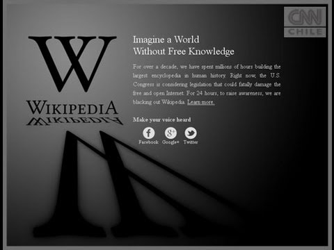 Wikipedia realiza blackout de 24 horas por ley SOPA y PIPA