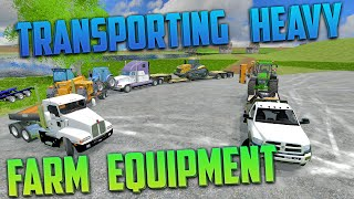 Farming Simulator 2015- Transporting Heavy Equipment!