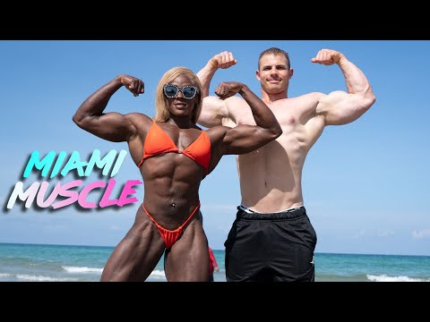Female Hulk Trains Her Buff Boyfriend | MIAMI MUSCLE
