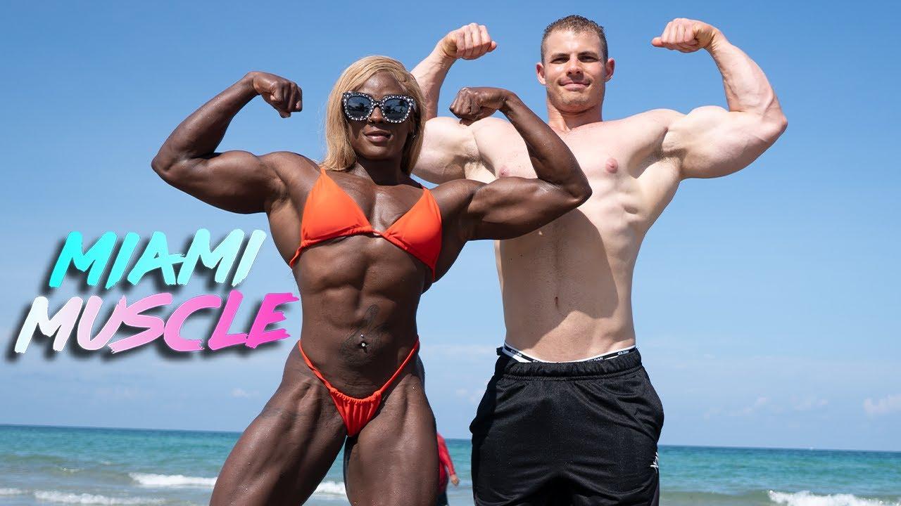 Female Hulk Trains Her Buff Boyfriend | MIAMI MUSCLE