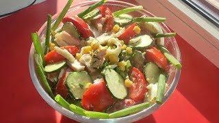Простой ЛЕТНИЙ салат с КРАБОВЫМИ ПАЛОЧКАМИ!!! САЛАТ С КРАБОВЫМИ ПАЛОЧКАМИ и кукурузой