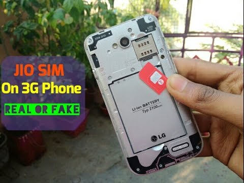 Use Jio Sim On 3G Phones || Real Or Fake || In Hindi