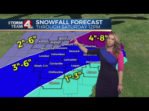 Snow coming soon, the latest track and how much to expect