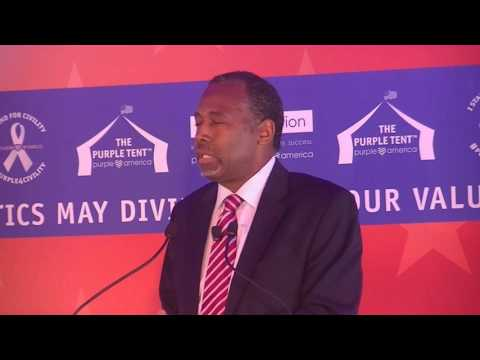 Dr. Ben Carson in the Purple Tent – Black Lives Matter