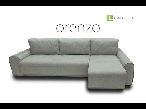 Угловой раскладной диван Lorenzo white
