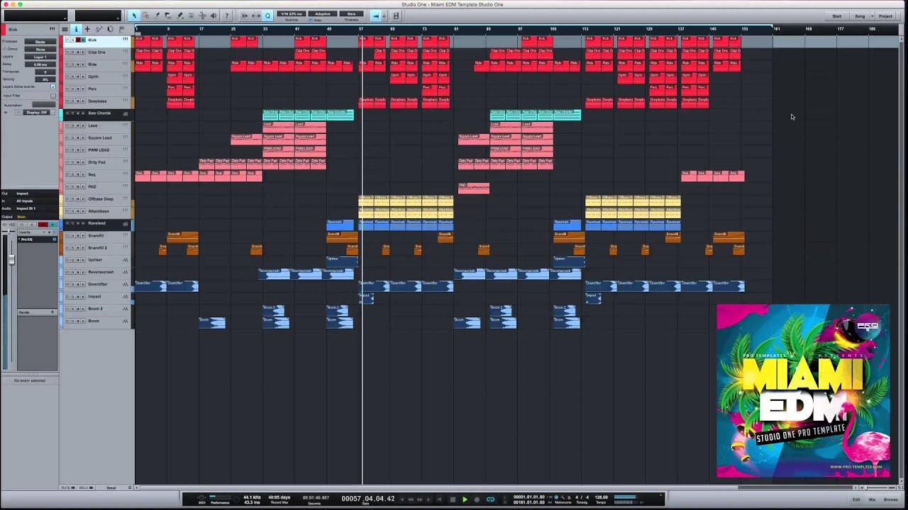 Miami EDM Studio One Pro Template
