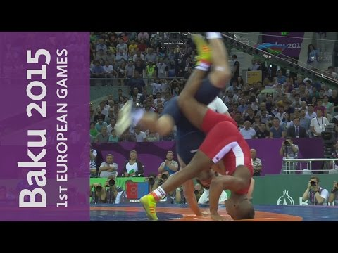 Togrul Asgarov wins the gold with a brilliant takedown and pin | Wrestling | Baku 2015