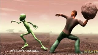 Dame tu cosita funny alien dancing new viral video | Full video of new viral alien dancing video