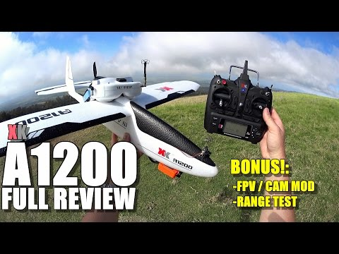 XK A1200 - Full Review - [Unbox / Setup / FPV + Battery Mods / Flight + Range Test / Pros & Cons]