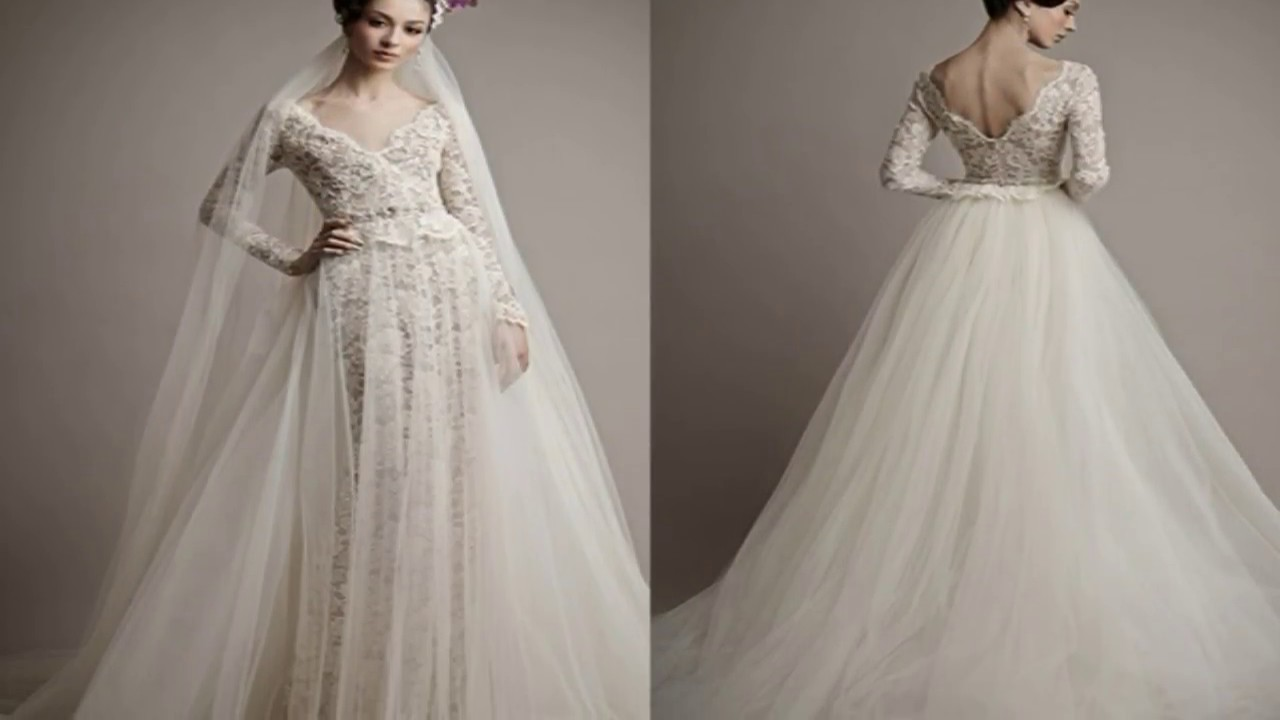 Top Modified A Line Wedding Dress With Sleeves - YouTube
