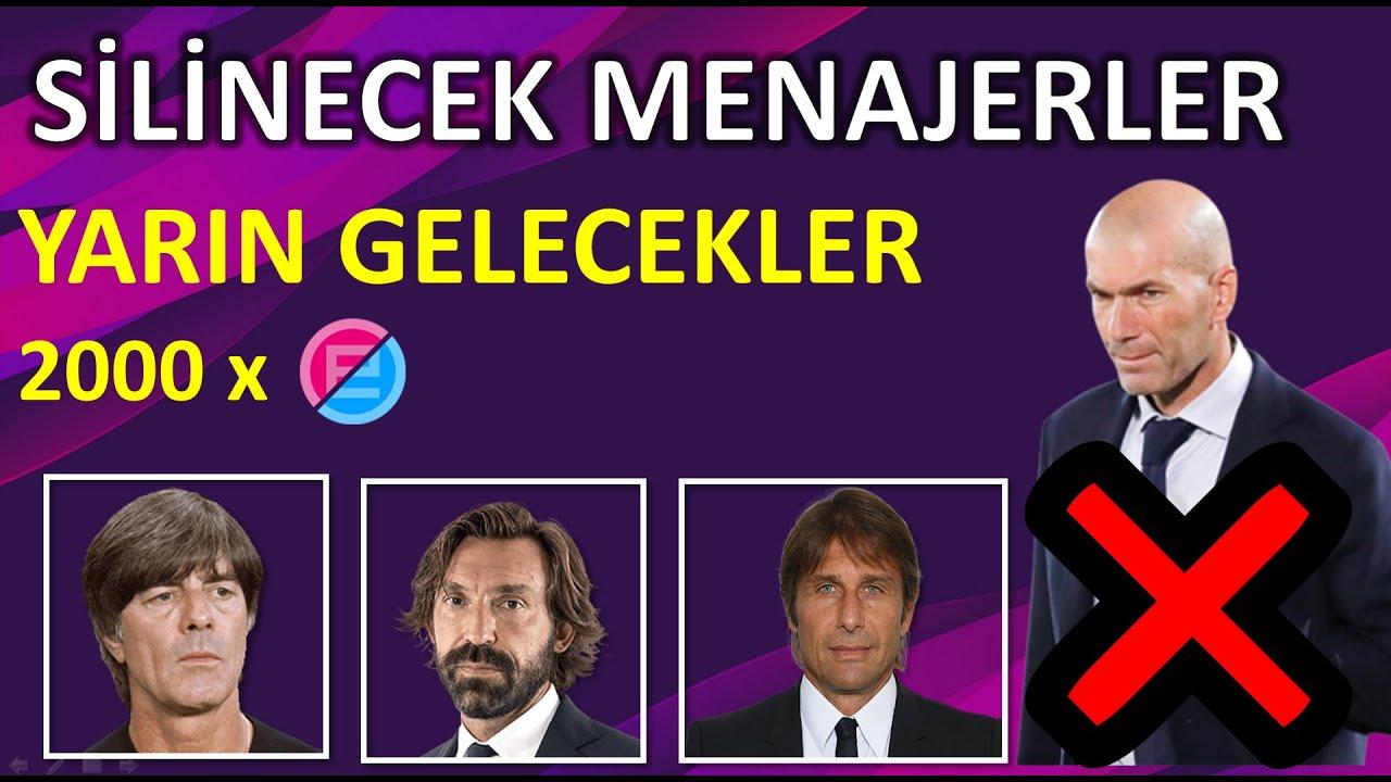 SİLİNECEK MENAJERLER ve YARIN GELECEKLER ( Pes 2021 Mobile Removed Manager )