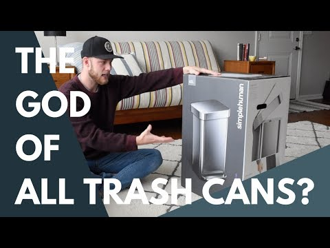 IS THIS THE GOD OF ALL TRASH CANS? (Simplehuman Step Can Unboxing)
