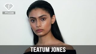 London Fashion Week Fall/WItner 2017-18 - Teatum Jones Make up | FTV.com