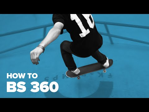Как сделать BS 360 на скейте (How to BS 360 on a skateboard)