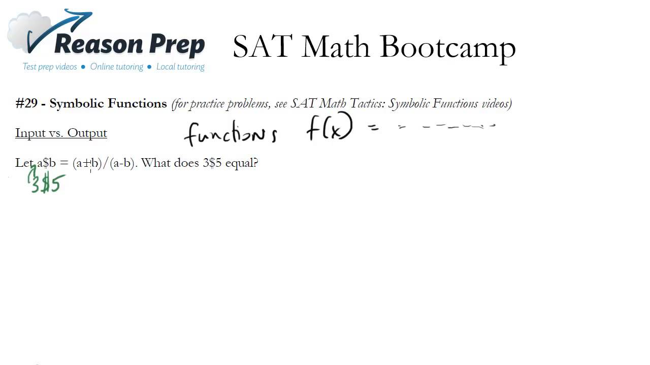 29 Special Or Symbolic Functions Sat Math Bootcamp Youtube