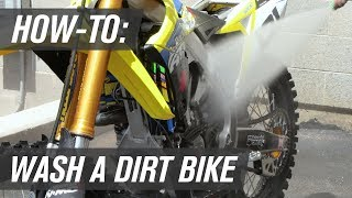 How To Wash a Motocross Dirt Bike the Right Way
