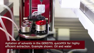 Extremely Fast and Efficient Mixing and Extraction using GERSTEL quickMIX