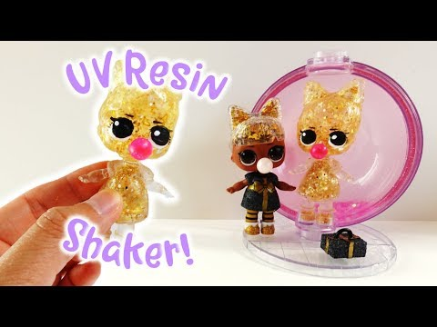 3D UV Resin Shaker Doll Prezzie - LOL Surprise Glitter Globe Winter Disco