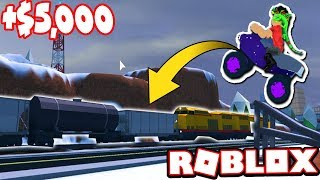 ROBBING THE TRAIN WITH THE ATV!!! *CHALLENGE* (Roblox Jailbreak)