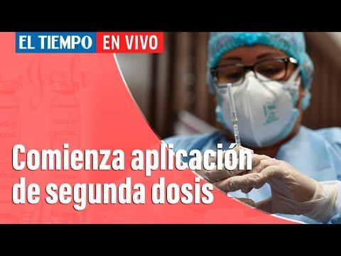 Coronavirus En Colombia: Se inició la aplicación de la segunda dosis de vacunas contra Covid-19