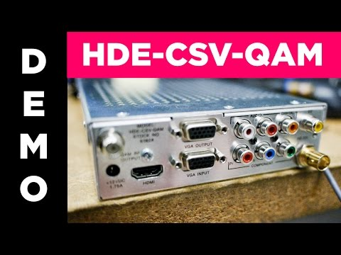 HDE-CSV-QAM High Definition Single Channel Encoder