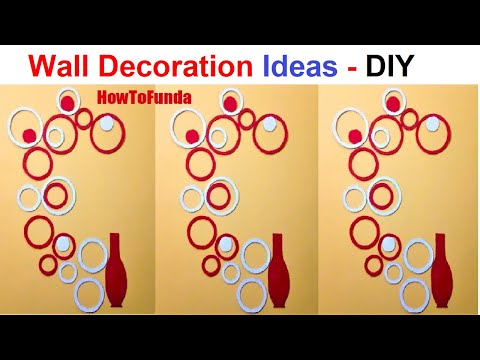wall decoration ideas  | circle design | wall decor | home decor | cardboard best out of waste | diy
