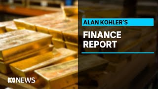 Gold surges above $US2,000 for first time while Australian shares drops | Finance Report
