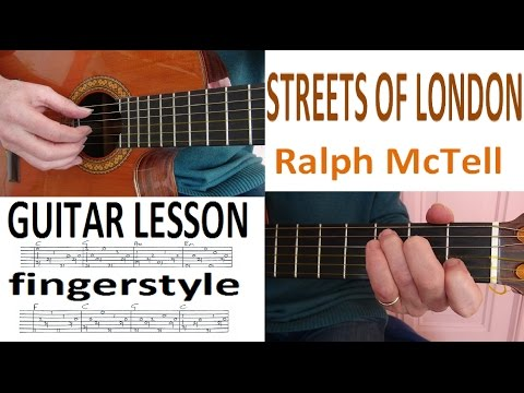 STREETS OF LONDON - Ralph McTell fingerstyle GUITARLESSON