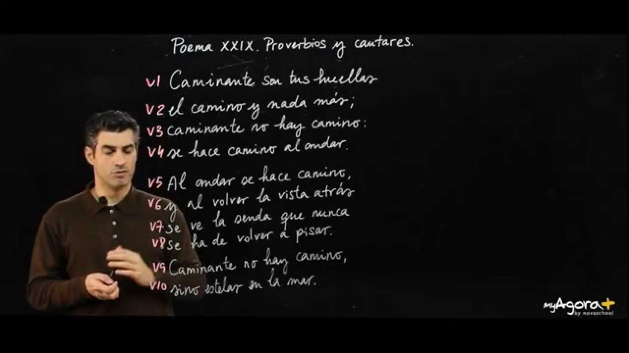 Métrica Y Rima Poema Xxix De Proverbios Y Cantares De Antonio Machado