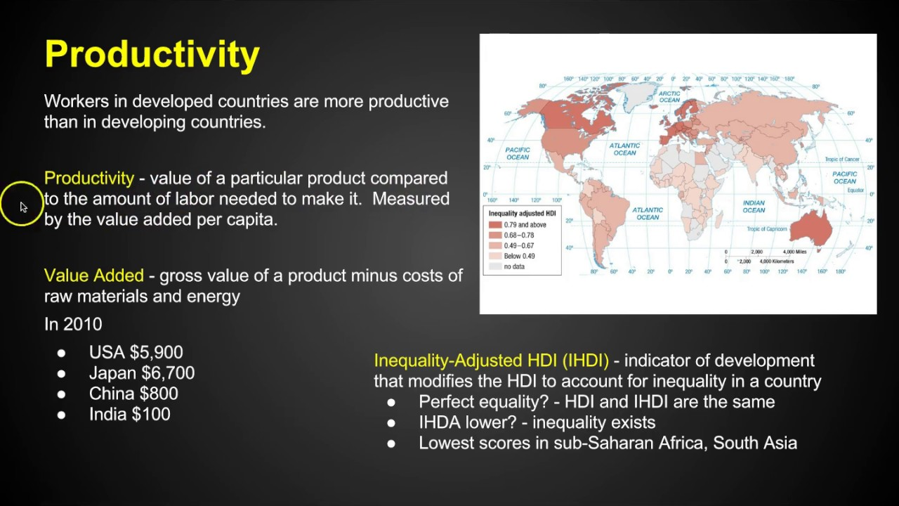 AP Human Geography - Development - Chapter 9 Key Issue 1 - YouTube