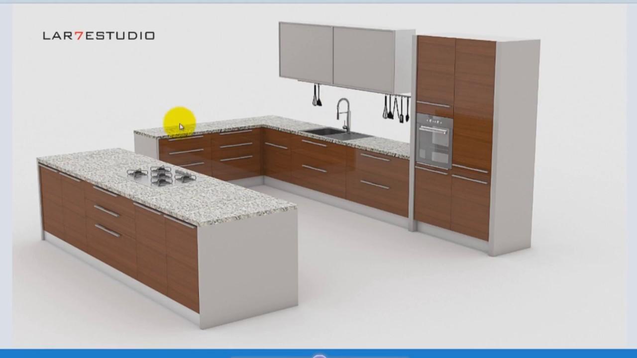 Curso tutorial modelado muebles de cocina sketchup gratis for Programa para disenar muebles gratis