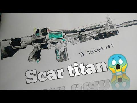 Menggambar Scar Titan Senjata Free Fire Youtube
