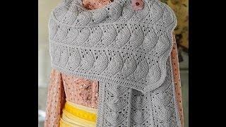 Ажурный шарф из японского журнала  Keito dama. Часть 1